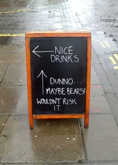 kneipenschilder-nice-drinks-dunno-maybe-bears-wouldnt-risk-it